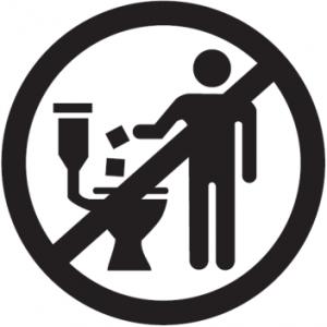 Afval zoals wattenstaafjes niet door de WC spoelen - LIVES