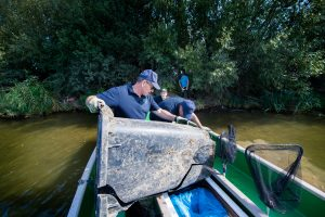 World cleanup day a complete container fished out of the water by LIVES partner Waterschap Limburg